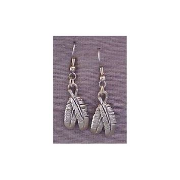SALE Closeout Native American Double Feather Earrings ERM1030