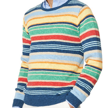 Linen and Cotton Multistripe Sweater
