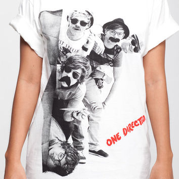 One Direction T Shirt 1D Detection Women Short Sleeve T Shirts White Tee Shirts Men Shirts Women Unisex T-Shirt Size M L XL