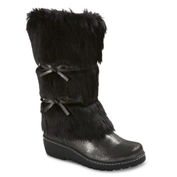 Girl's Cherokee® Fairley Shearling Boots - Black