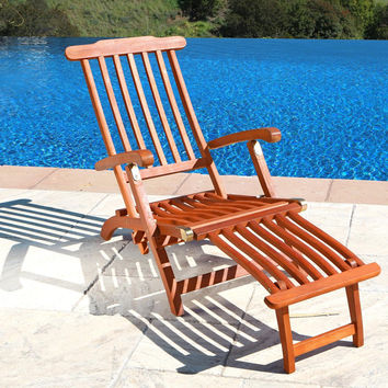 Angled Outdoor Lounge Chair   Overstock.com Shopping - The Best Deals on Chaise Lounges
