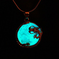 "GLOW in the DARK ""DRAGON"" Surrounding Amethyst"