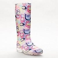 Shop women's rainboots and all-weather boots from Coach