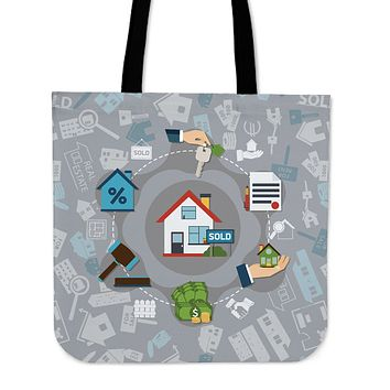 Real Estate Sold Linen Tote Bag - Promo