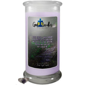 Psalm 23:4 Verse God Candle