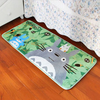 Super Soft Coral Fleece Cartoon Totoro Floor rugs and carpets Area Anti-slip Mat  for living room bed room home decorative
