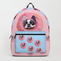 French Bulldog Donut Backpack by lostanaw