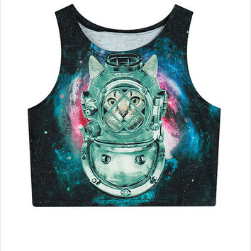 Spaced Crop Top