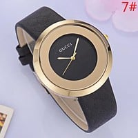 GUCCI Fashion New More Letter Watchband Women Men Business Casual Wristwatch Watch
