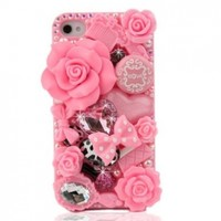 Nova 3D Bling Crystal Case for Apple iPhone 4/4S - AT&T Verizon Sprint - Pink Fairy Tale