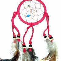 "DreamCatcher ~ NO TEARS ~ Approx 2.5"" Diameter 10"" Long~ Red"