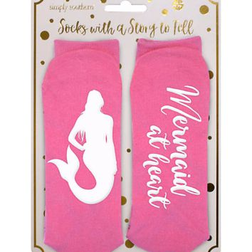 Mermaid at Heart Argyle Statement Socks by Simply Southern