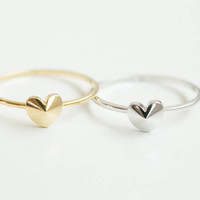 Simple cute heart ring,convex heart rings,unique rings, jewelry, jewelry rings,gift for her,bridesmaid gift,anniversary ,SKD396