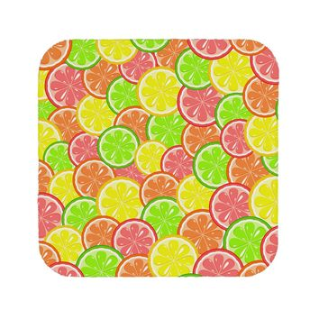 Colorful Citrus Fruits Coaster All Over Print