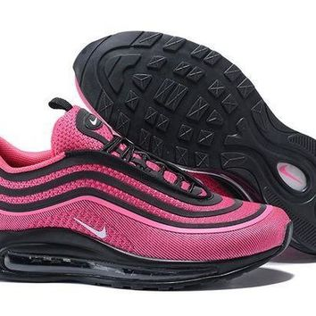 PEAPONVX Jacklish Girls Nike Air Max 97 Ultra 17 Gg Black/racer Pink-white For Sale