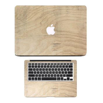 "Oak Wood Grain Top + Twist keyboard Laptop Skin set for MacBook Air/Pro/Retina 11"" 12"" 13"" 15"" Full Cover Notebook Decal Sticker"