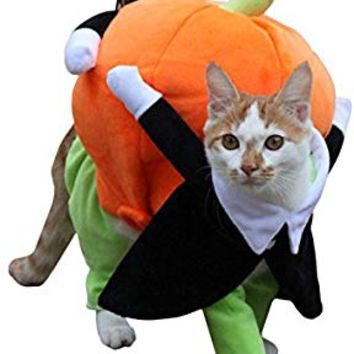 UHeng Funny Pet Dog Cat Dress Halloween Pumpkin Costume Clothes