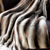 Chinchilla Faux Fur Limited Edition Throw Blankets | Fabulous-Furs
