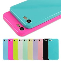 Iphone Candy colors Soft TPU Silicon Phone Cases 6 & 7 Plus