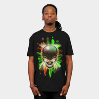 Black Skull Psychedelic Explosion T Shirt By BluedarkArt Design By Humans