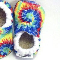 Baby Shoes, Tie Dye Shoes, Hippie Shoes, Newborn Photo Prop, Baby Girl, Baby Boy, Baby Hippie, Toddler Shoes
