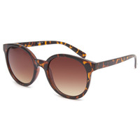 Full Tilt Rock It Round Sunglasses Tortoise One Size For Women 24319740101