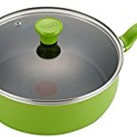 T-fal C96833 Excite Nonstick Thermo-Spot Dishwasher Safe Oven Safe PFOA Free Jumbo Cooker Cookware, 4.5-Quart, Green