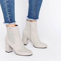 ASOS ROYA Mid Ankle Boots at asos.com