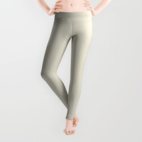 Milk White Moon Mist Leggings by deluxephotos