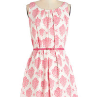 ModCloth Mid-length Sleeveless A-line Fresh Spring Rain Dress in Pink