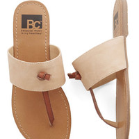 BC Footwear Minimal In the Late Night Lights Flat in Peach