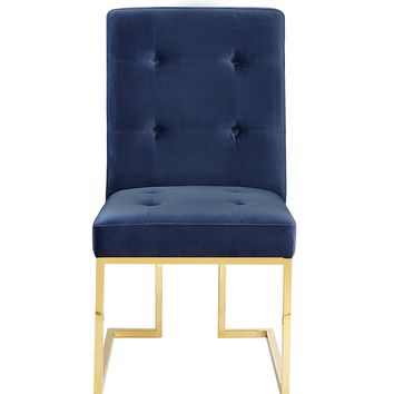 Akiko Navy Velvet Chair (Set of 2)