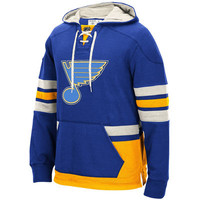 Men's St. Louis Blues CCM Blue Pullover Hoodie