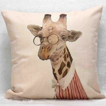 Mr. Animal Giraffe Pillow Case