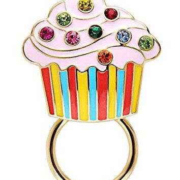 CHUANGYUN Ice Cream Colorful Crystal Strong Magnetic Brooch Cake Eyeglass Holder