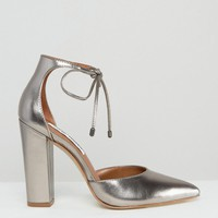 Steve Madden | Steve Madden Pampered Pewter Heeled Shoes at ASOS
