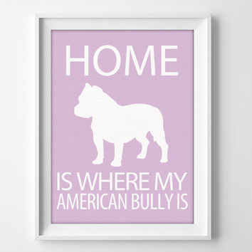 "8x10"" American Bully Wall Art, Illustrated Dog Art, Bully Decor, Dog Breed Wall Art, Minimalist Pet Art, Bully Gift, Bully Pet, Bully Dog"