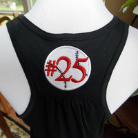 Personalized Baseball Racerback Tank Top