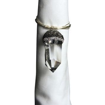 Crystal Point Napkin Ring