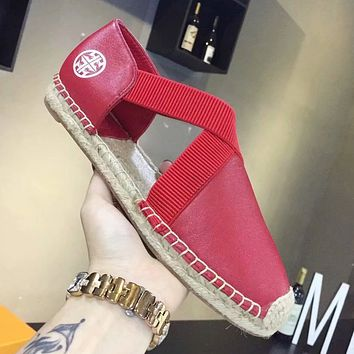 Tory Burch Women Fashion Leather Espadrilles Flats Shoes