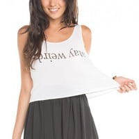 Brandy ♥ Melville |  Mirella Stay Weird Tank - Graphics