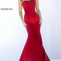 Open Back Cap Sleeve Mermaid Dress by Sherri Hill