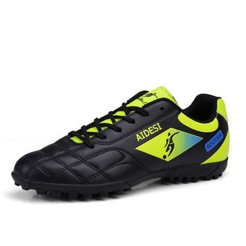 Football Shoes Soccer Boots For Men Soccer Cleats Turf Shoes Leather Soccer Trainer Boys Soccer Sneaker Turf Boot