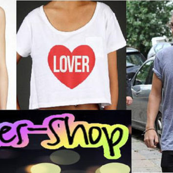 Harry Styles Inspired Lover Heart Shirt