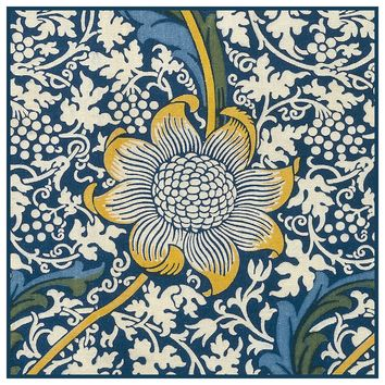 Kennet Design Detail 1 by Arts and Crafts Movement Founder William Morris Counted Cross Stitch or Counted Needlepoint Pattern - Counted Cross Stitch