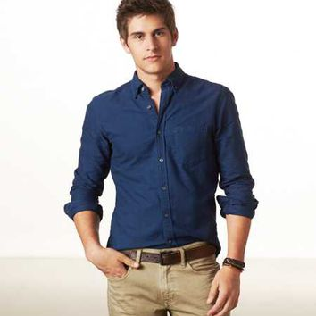 Shirts Mens Casual Button Up Shirts From American Eagle