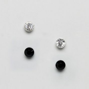 Burton Menswear Stud Earrings 2 Pack at asos.com