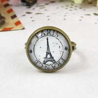 Amazon.com: Classic Color Ring Strongly Individualizes Eiffel Tower Finger Adjustable Ring: Everything Else