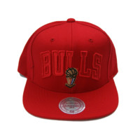 Chicago Bulls 95-96 Wordmark Championships Snapback Red