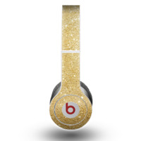 The Gold Glitter Ultra Metallic Skin for the Beats by Dre Original Solo-Solo HD Headphones